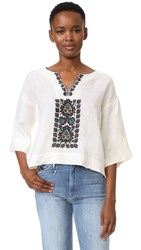 Plenty By Tracy Reese Embroidered Top Tusk