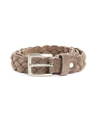 M.Studio Taupe Peter Woven Suede Belt