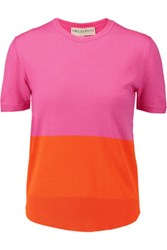 Emilio Pucci Two Tone Wool Jersey Top Pink