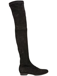 Robert Clergerie 10Mm Stretch Suede Over The Knee Boots