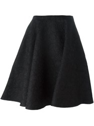 Paule Ka Floral Lace Skirt Black