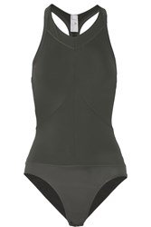 Adidas By Stella Mccartney Studio Performance Swimsuit Gray