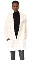 Boutique Moschino Fur Coat White