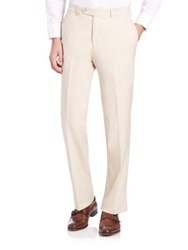 Saks Fifth Avenue Barberis Wool Trousers Brown