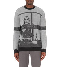 Opening Ceremony Contact Sheet Graphic Crew Neck Wool Jumper Black Multi