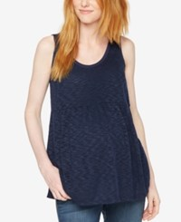 A Pea In The Pod Maternity Relaxed Fit Tank Top Navy