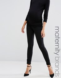 Mama Licious Mamalicious Over The Bump Jeans Black Grey