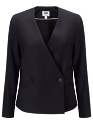 John Lewis Kin By Double Breasted Jacket Navy