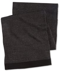 Ryan Seacrest Distinction Men's Herringbone Scarf Only At Macy's Charcoal Grey