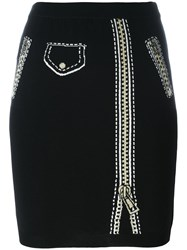 Moschino Trompe L'oeil Skirt Black
