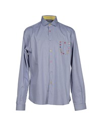 Poggianti Shirts Shirts Men Dark Blue