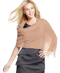 Styleandco. Style And Co. Woven Metallic Crochet Wrap Rose