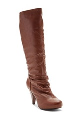 Charles Albert Tall Classic Heel Boot Brown