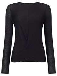 Phase Eight Gretchen Twist Knot Top Black