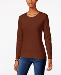 Styleandco. Style Co. Crew Neck Top Only At Macy's Rich Auburn