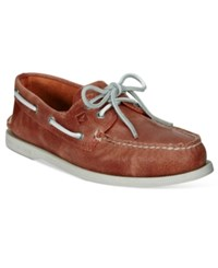 Sperry Men's A O White Cap Boat Shoes Men's Shoes Coral