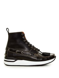 Givenchy Deck Style High Top Leather Boots