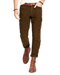 Polo Ralph Lauren Moleskin Slim Fit Cargo Pants Hunter Oli