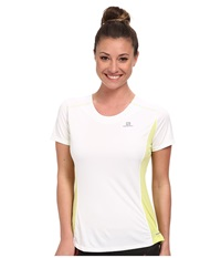 Salomon Agile S S Tee White Flashy X Women's T Shirt
