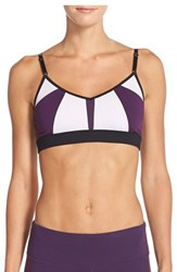 Alo Yoga Women's Alo 'Trace 2' Sports Bra Lavender Purple Pennant