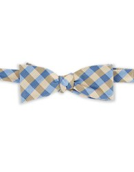 Vince Camuto Checked Bow Tie Gold