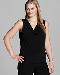 Calvin Klein Plus Cowl Neck Tank Black