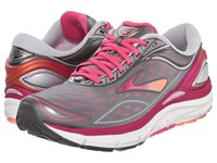 Brooks Transcend 3 Silver Beet Root Purple Fresh Salmon Women's Running Shoes Gray