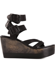 Calleen Cordero 'Suri' Wedge Sandals Black