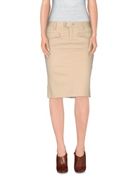 Rare Ra Re Knee Length Skirts Beige