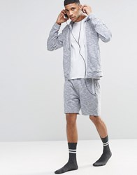 Hugo Boss Lounge Shorts In Marl Regular Fit Grey