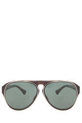 Dries Van Noten Green Aviator Sunglasses Multi