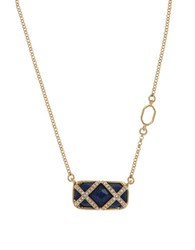 Ivanka Trump Cubic Zirconia And Epoxy Stone Pendant Necklace Blue