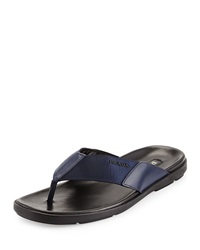 Prada Men's Nylon Flip Flop Blue