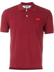 Comme Des Garcons Play Embroidered Heart Polo Shirt