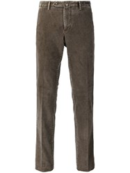 Pt01 Slim Corduroy Trousers Brown