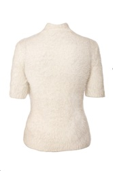 Quiz Cream Fluffy Short Jumper