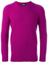 Drumohr Crew Neck Jumper Pink Purple