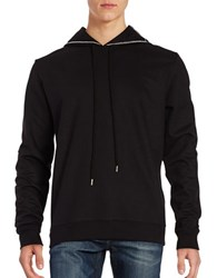 Markus Lupfer Chain Accented Hoodie Black