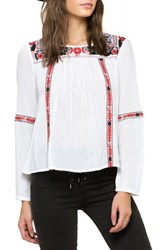 Amuse Society Women's 'Madyson' Embroidered Peasant Top