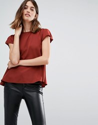 Vero Moda Cap Sleeve Swing Top Copper