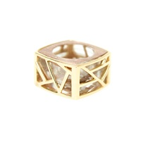 Ona Chan Square Cocktail Ring Gold