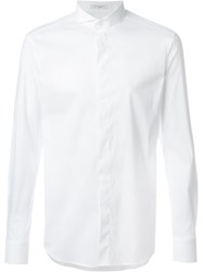 Paolo Pecora Spread Collar Shirt White