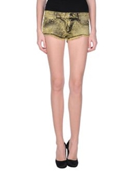 Killah Denim Shorts Yellow