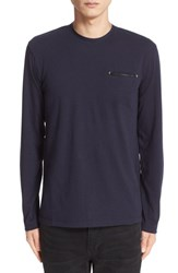 The Kooples Men's Long Sleeve Cotton And Wool Shirt