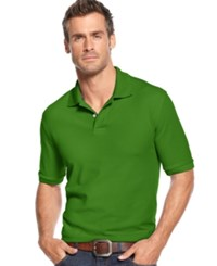 Club Room Short Sleeve Solid Estate Performance Sun Protection Polo Green Squash