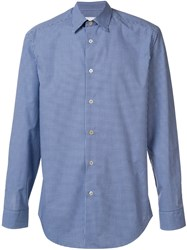Paul Smith Checked Shirt Blue