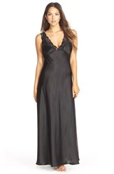 Women's Jonquil 'Taylor' Satin Nightgown Black