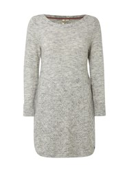 White Stuff Mable Cable Tunic Grey