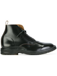 Buttero Curved Oxford Detail Boots Black