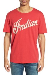 Men's Lucky Brand 'Indian Motorcycles' Graphic T Shirt Pompeian Red